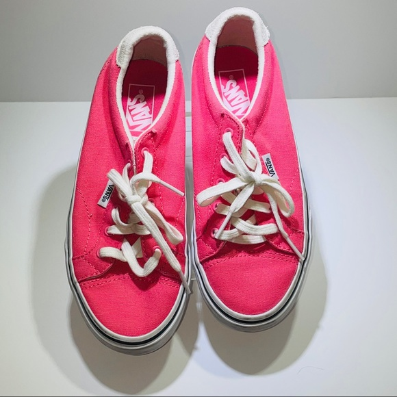 Vans Shoes | Girls Pink And Suede Size